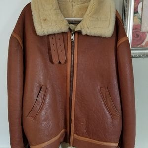 Men's shearling jacket.